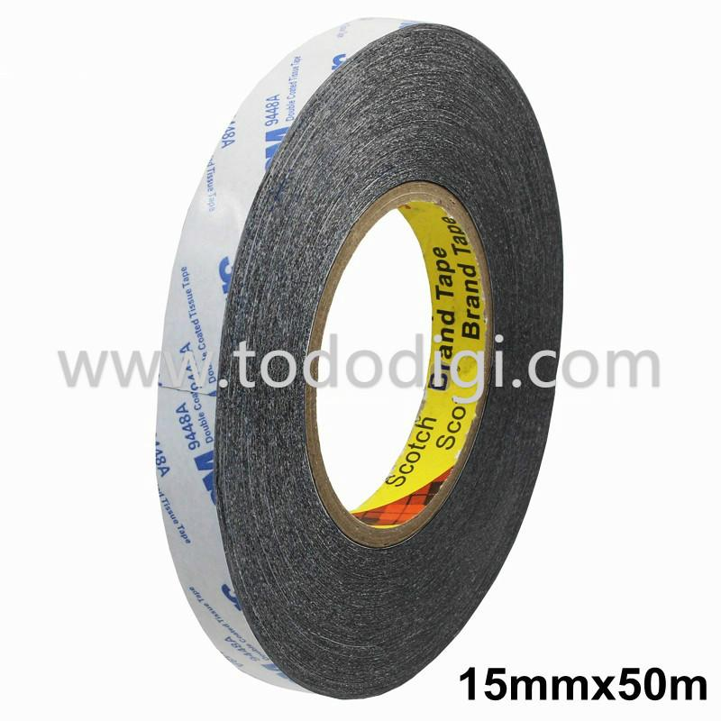 3M 9448AB DOUBLE-SIDED ADHESIVE TAPE BLACK 15MM FOR MOBILE REPAIR