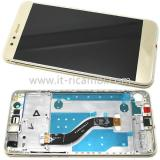 TOUCH DIGITIZER + DISPLAY LCD COMPLETE + FRAME FOR HUAWEI P10 LITE GOLD