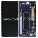 TOUCH DIGITIZER + DISPLAY LCD COMPLETE + FRAME FOR SAMSUNG GALAXY NOTE9 N960F BLUE ORIGINAL