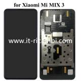 DISPLAY LCD + TOUCH DIGITIZER DISPLAY COMPLETE + FRAME FOR XIAOMI MI MIX 3 BLACK ORIGINAL