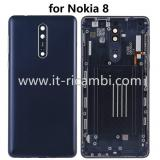 BACK HOUSING FOR NOKIA 8 TA-1004 TA-1012 TA-1052 POLISHED BLUE