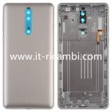 BACK HOUSING FOR NOKIA 8 TA-1004 TA-1012 TA-1052 STEEL / SILVER