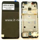 TOUCH DIGITIZER + DISPLAY LCD COMPLETE + FRAME FOR OPPO K3 BLACK ORIGINAL